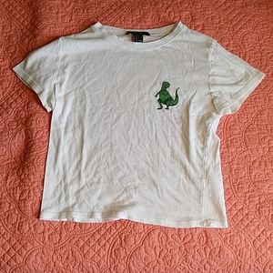 Graphic tee with dinosaur